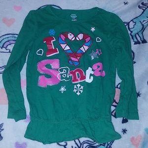 Other - I heart Santa shirt